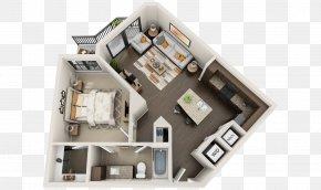 Apartment - 3D Floor Plan Studio Apartment House PNG