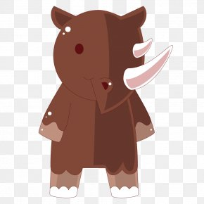 Red Texture Cartoon Rhino - Cartoon Adobe Illustrator Illustration PNG
