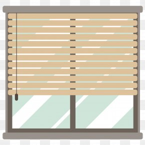 Flat Window - Window Blind Curtain Flat Design PNG