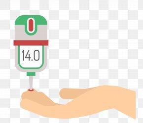 Vector Blood Glucose Meter Material - Blood Sugar Glucose Meter Diabetes Mellitus PNG