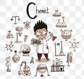 Vector Little Scientist - Chemistry Science Scientist Illustration PNG