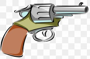 Cartoon Revolver Cliparts - Firearm Starting Pistol Revolver Clip Art PNG