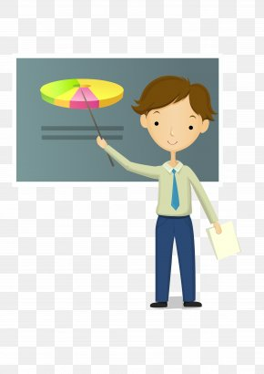 Teacher - Teacher Lesson Cartoon PNG