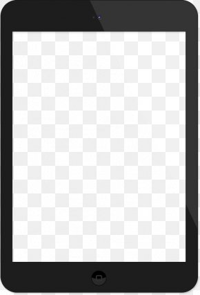 Transparent Tablet Image - Product Design Black And White Pattern PNG