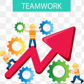 Vector Hand-painted Collaborative Work - Business Teamwork Euclidean Vector Management Collaboration PNG