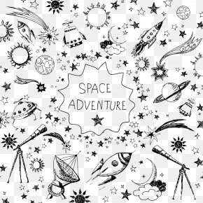 Space Elements - Outer Space Rocket Spaceflight Clip Art PNG