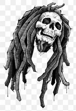 Skull Rock - Reggae Drawing Zedge Wallpaper PNG