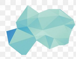 Iceberg Blue Gradient Lingge Background Decoration - Turquoise Pattern PNG