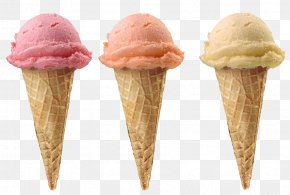 Ice Cream - Ice Cream Cone Sundae Strawberry Ice Cream PNG