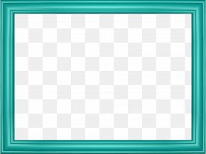 Teal Border Frame Transparent Image - Window Board Game Square Area Pattern PNG