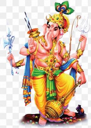 Vishu Ganesha Vishnu - Ganesha Ganesh Chaturthi Krishna Image PNG