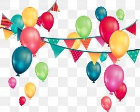 Fantasy Color Balloons - Wedding Invitation Balloon Birthday Party Greeting Card PNG