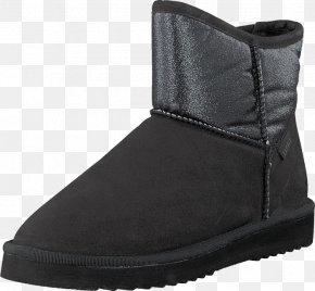 Black Glitter - Snow Boot Slipper Derby Shoe PNG