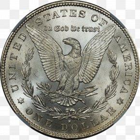 Silver Coin - Morgan Dollar United States Dollar Dollar Coin PNG