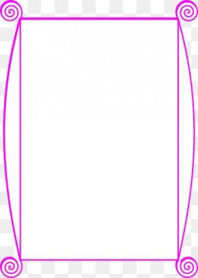 Border Line Design - Paper Line Angle Point Pink PNG