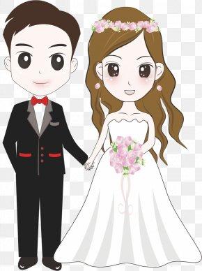 Cartoon Bride And Groom - Bridegroom Wedding Illustration PNG
