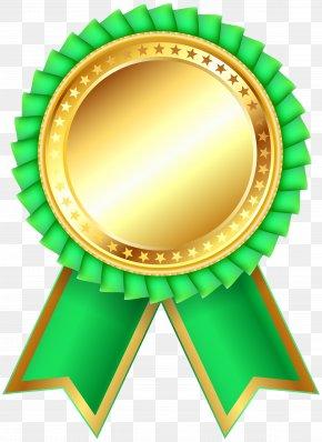 Green Award Rosette Clipar Image - Product Green Design Material PNG
