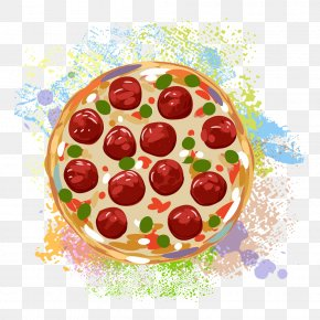 Delicious Fruit Pizza - Pizza Hamburger Italian Cuisine French Fries Fast Food PNG