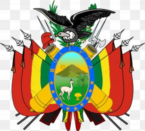 Flag - Coat Of Arms Of Bolivia Flag Of Bolivia National Emblem PNG