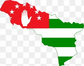 World Map Clipart - Abkhazia South Ossetia Flag World Map PNG