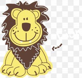 Vector Cute Little Lion - Lion Giraffe Illustration PNG
