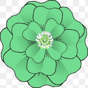 4 Leaf Clover Clip Art - Corsage Clip Art PNG