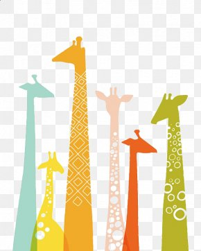 Giraffe - Giraffe Manor Color Illustration PNG