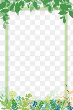 A Beautiful Green Cartoon Border - Download Computer File PNG