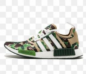 Adidas - Bape X NMD R1 Adidas NMD R1 Primeknit 'Footwear Sneakers Adidas Nmd R1 Bape Bathing Ape Green Camo Camouflage Ba7326 Us Size 5 PNG