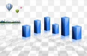 Three-dimensional Rectangular Blue Background - Big Data Analysis Chart Diagram PNG