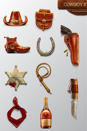 Cowboy Police Equipment - Cowboy Boot Western PNG
