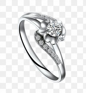 Jewelry Hand-painted Jewelry Cartoon Picture Material,Diamond Ring - Ring Diamond Jewellery Carat Gold PNG
