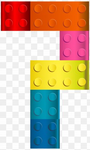 Lego Number Seven Transparent Clip Art Image - Sharon