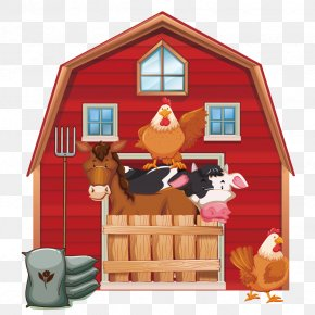 Vector Red House - Cattle Silo Farm Barn Clip Art PNG