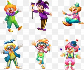Vector Hand-painted Clown - Clown Stock Illustration Illustration PNG
