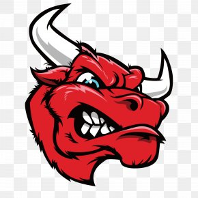 Angry Bull - Red Bull Sticker Decal Cattle PNG