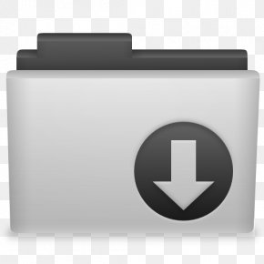 Grey Folder Download Icon - Tux Racer Linux Macintosh Operating Systems Computer File PNG