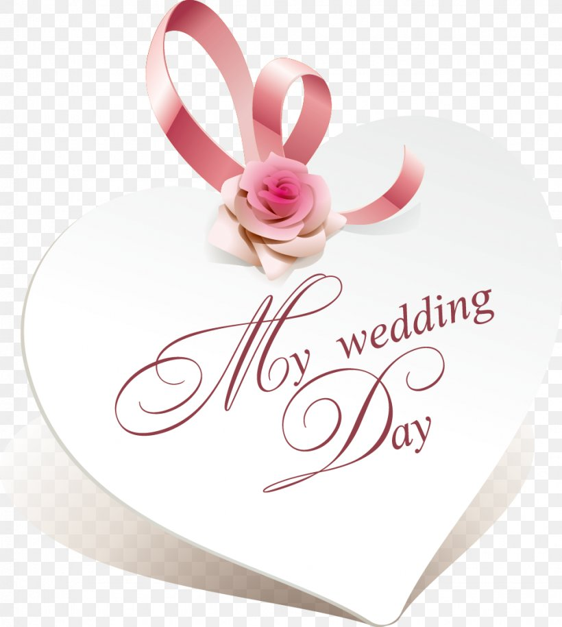 Whtie Heart Wedding Card