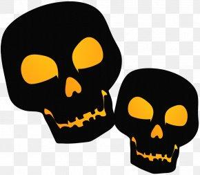 Large Black PNG Halloween Skulsl Clipart - New York's Village Halloween Parade Jack-o'-lantern Clip Art PNG