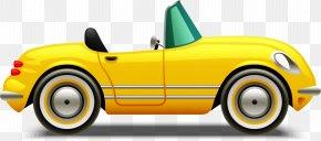 Antique Car Automotive Wheel System - Motor Vehicle Vehicle Yellow Car Automotive Design PNG