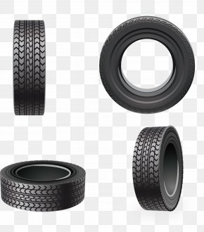Vector Rubber Tires - Snow Tire Car Wheel PNG