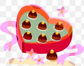 Cartoon Chocolate - Valentine's Day Chocolate Heart Clip Art PNG
