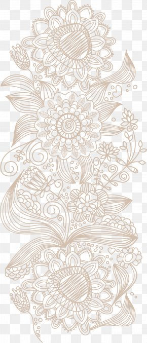 Flower Pattern Vector - Euclidean Vector Wallpaper PNG
