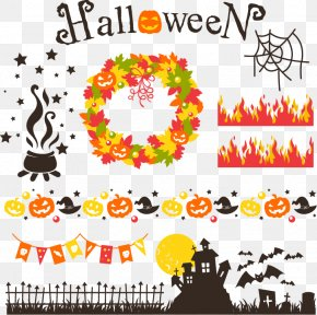 Halloween Design Elements - Halloween Euclidean Vector Jack-o'-lantern Illustration PNG
