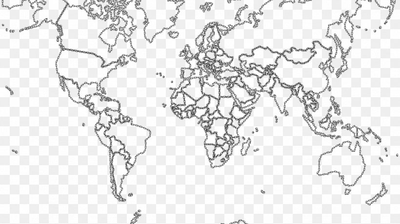 World Map Coloring Book Geography, PNG, 1366x768px, World ...