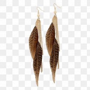 Feather Earrings Image - Earring Jewellery PNG
