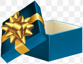 Blue Open Gift Box Clip Art Image - Gift Clip Art PNG