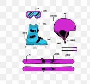 Vector Ski Helmet - Skiing Ski Helmet Gafas De Esquxed Ski Boot PNG