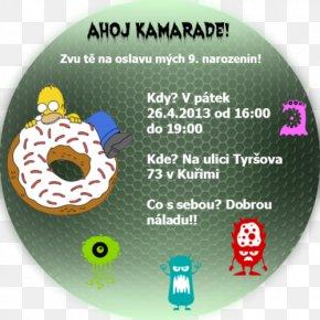 Design - Donuts Homer Simpson Font PNG