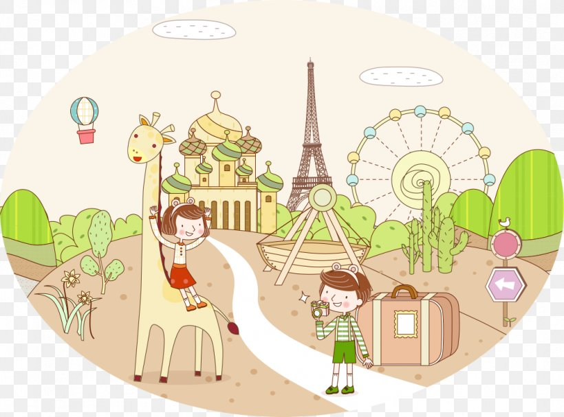 Drawing Travel Painting, PNG, 1067x790px, Drawing, Art, Child, Giraffidae, Graphic Designer Download Free